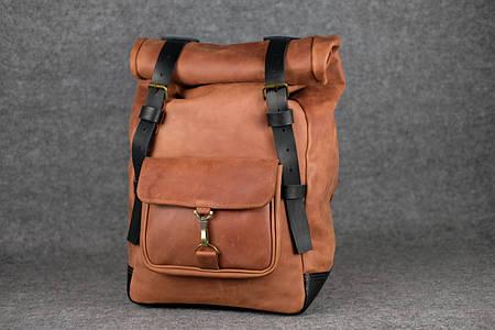 Мужской рюкзак HANKLE H42  13221  Коньяк+Черный