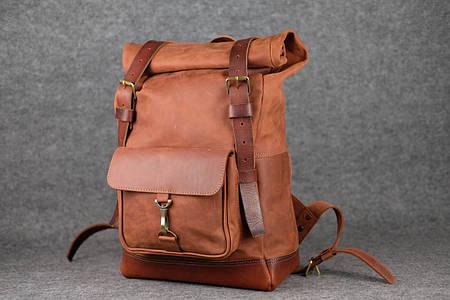 Мужской рюкзак HANKLE H42 |13222| Коньяк+Коньяк