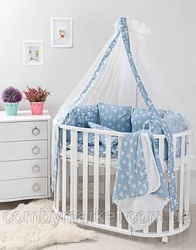 Комплект в детскую кроватку Twins Dolce Лесные жители голубой