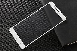 Защитное стекло AVG для Xiaomi Mi Max 2 полноэкранное белое