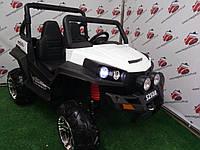 Детский электромобиль двухместный джип Buggy S 2588, белый