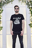 """Мужская трикотажная футболка """"Paul&Shark"""" с принтом и коротким рукавом"""