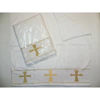 Белая крыжма для крещения  100% хлопок