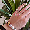 Серебряное кольцо на ногтик с позолотой, фото 4