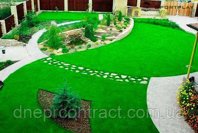 Декоративная искусственная ландшафтная трава для интерьера FUNgrass 32 мм, фото 2