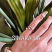 Серебряное кольцо на ногтик с позолотой, фото 3