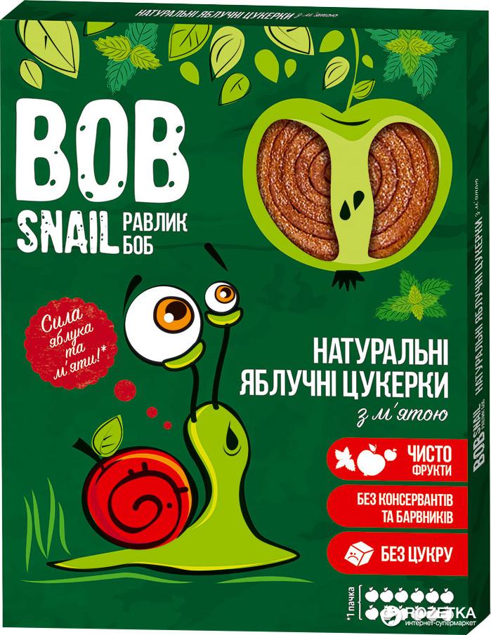Натуральные Яблочные конфеты с Мятой BOB SNAIL (РАВЛИК БОБ) 60 грамм