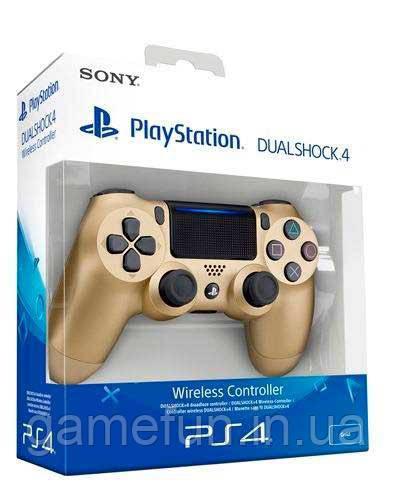 Джойстик PS4 V2 Dualshock 4 Controller Золотой (Оригинал)