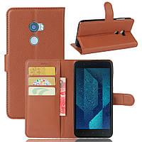 Чехол HTC One X10 книжка PU-Кожа коричневый