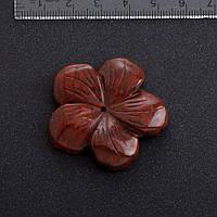 Фурнитура Цветок натуральный камень ? 4,1 см Яшма