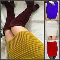 Вязаная облегающая короткая юбка 16092, фото 1