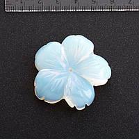Фурнитура Цветок натуральный камень ? 4,1 см Лунный камень