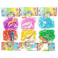 Набор для плетения резинок кольца и браслеты loom bands 12 папчек в упаковке ассорти