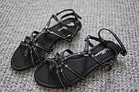 Женские сандалии гладиаторки Греция Black лето 37