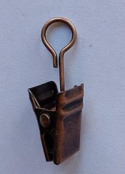 Жабка металлическая  для кольца, медь античная