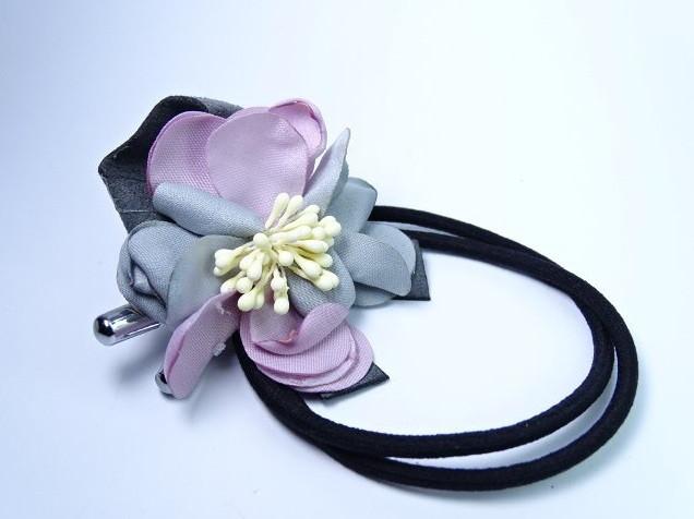 Резинка для волос Цветок сиреневый
