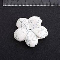 Фурнитура Цветок натуральный камень ? 4,1 см Кахолонг