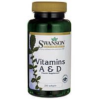 Swanson Premium Vitamin A & D  (5000 & 400) 250 капс