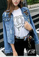Стильная куртка джинс