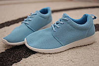 Женские кроссовки Nike Roshe run сетка Blue 36 - 39