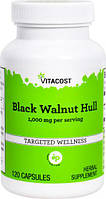 Черный орех Vitacost Black Walnut Hulls 500 мг 120 капс