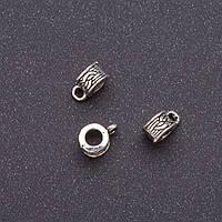 Фурнитура бейл b-6мм d-3мм L-9мм серый металл фас.20гр. +- 35шт.