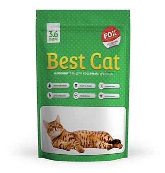 Силикагелевый наполнитель БЭСТ КЭТ Best Cat Green Apple для кошачьего туалета запах яблока, 3,6 л