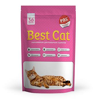 Силикагелевый наполнитель Best Cat (БЭСТ КЭТ) Pink Flowers для кошачьего туалета с запахом цветов, 3,6 л