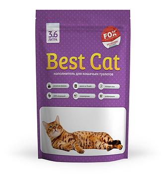 Силикагелевый наполнитель Best Cat (БЭСТ КЭТ) Purple Lawender для кошачьего туалета с запахом лаванды, 3,6 л