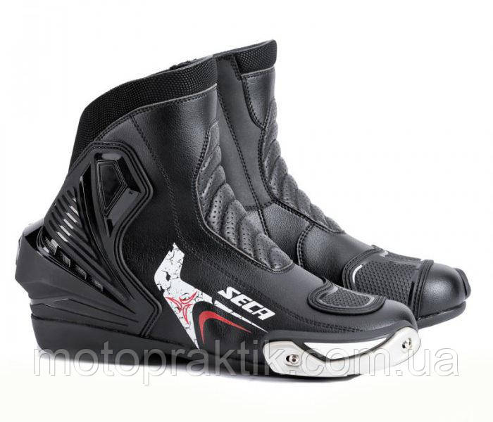 Seca VORTEX II Black/White, EU40, Мотоботы