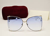 Женские солнцезащитные очки Gucci 31043 copy (голубой цвет), фото 1