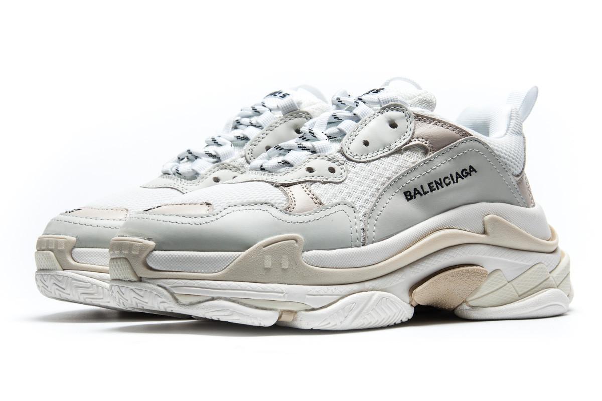 Мужские кроссовки Balenciaga Triple S многослойная подошва, бежевые 11717