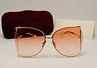 Женские солнцезащитные очки Gucci 31043 copy (коралловый градиент), фото 1
