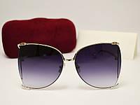 Женские солнцезащитные очки Gucci 31043 copy (серный градиент), фото 1