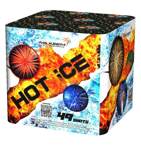 Фейерверк \ Салют HOT ICE Горячее - холодное Калибр 30 мм \ 49 выстрелов GWM 5038