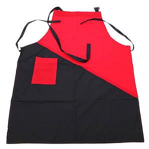 Фартук для парихмахера чёрно красный 59*75 см