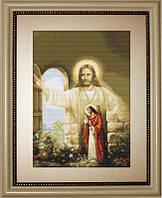 """Набір для вишивки хрестиком """"Ісус стукає в твої двері"""""""