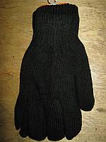 Перчатки мужские вязаные двойные