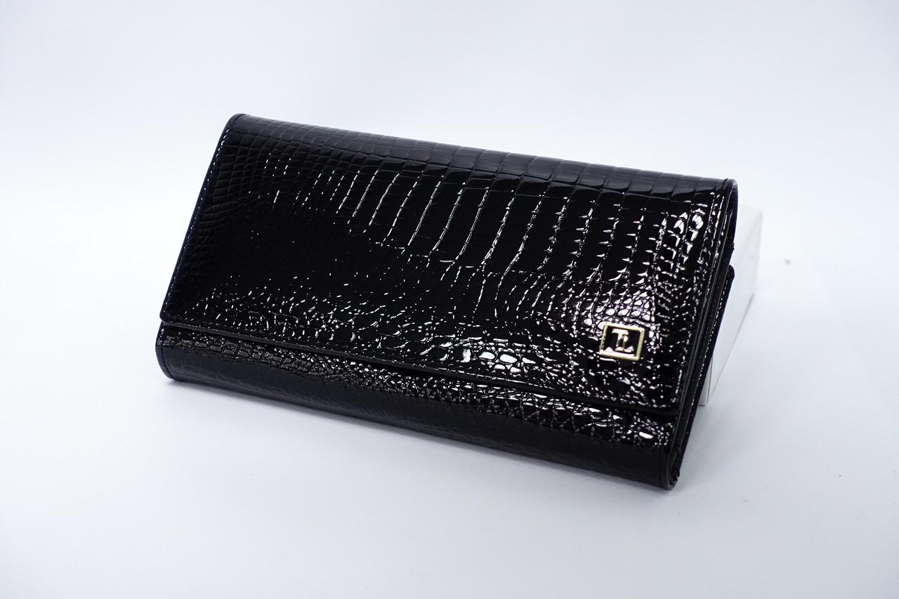 Кожаный кошелек Bretton Lizard W46 Black