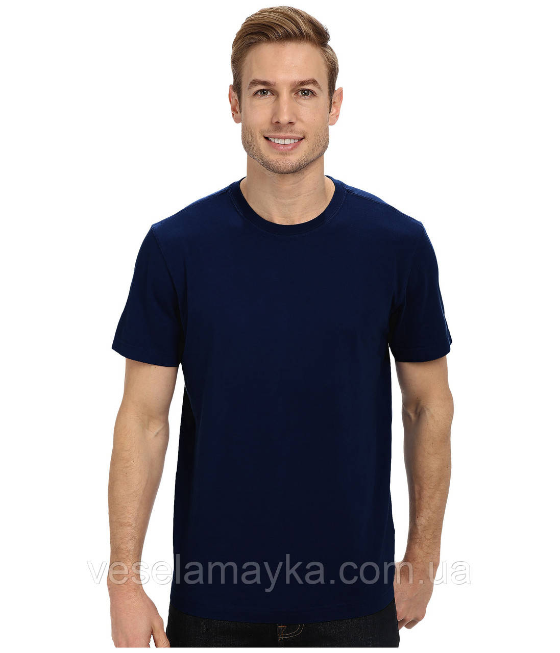 Глибоко темно-синя чоловіча футболка (Преміум)