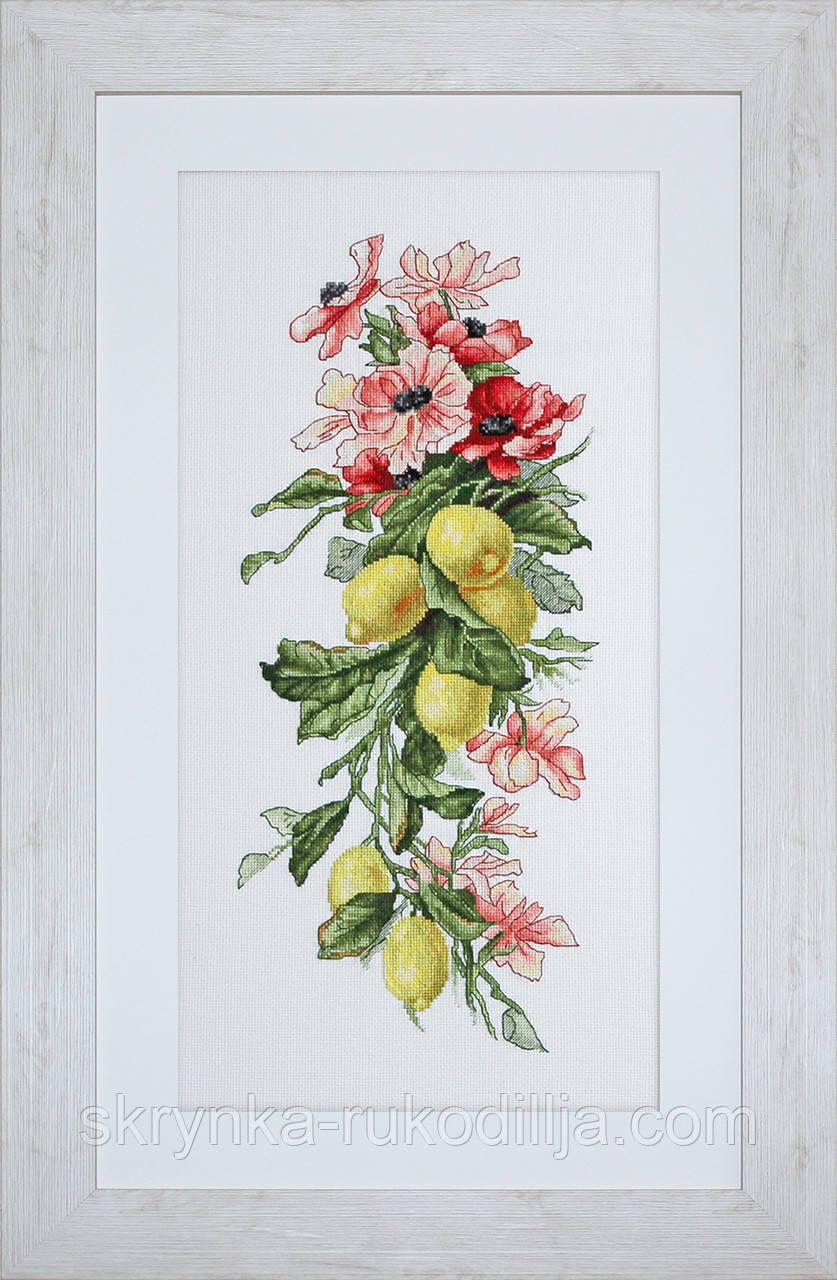 """Набір для вишивки хрестиком """"Композиція з лимонами"""""""