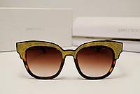 Женские солнцезащитные очки Jimmy Choo 17182 (коричневый лео), фото 1