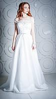 Длинное свадебное вечернее платье греческого силуэта 17-829