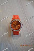 Женские часы DISU (Geneva) со стразами оранжевого цвета., фото 3