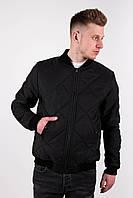 Мужская стеганая весенняя куртка стеганка Dark Side черная, фото 1