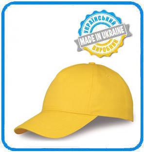 Желтая рекламная кепка пятиклинка ПРОМО