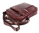 Мужская кожаная сумка BR9195 коричневая, фото 4