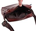Мужская кожаная сумка BR9195 коричневая, фото 6
