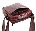 Мужская кожаная сумка BR9195 коричневая, фото 7