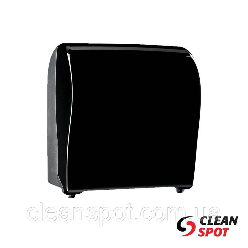 Диспенсер для бумажных полотенец в рулонах отрезающий отрывы Unique 352 черный